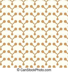 Vector geometrical brown atom vertical stripes