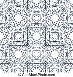 Vector Geometry Seamless Pattern
