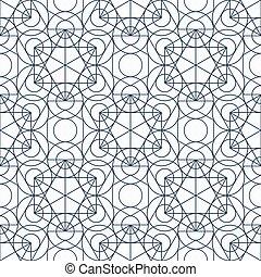 Vector Geometry Seamless Pattern - Geometric seamless...