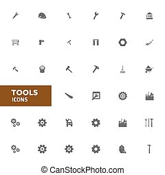 Vector, gereedschap, iconen, illustratie