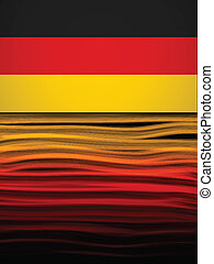 Germany Flag Wave Yellow Red Black Background - Vector -...