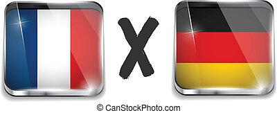 Germany versus France Flag Soccer Game