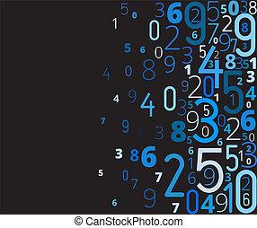vector, getallen, achtergrond