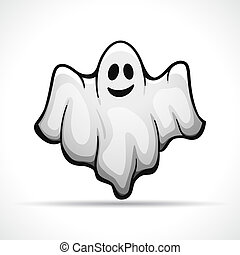 Vector ghost on white background