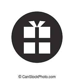 vector gift box icon. icon black