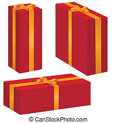 vector gift box set