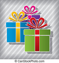 vector gift boxes symbols
