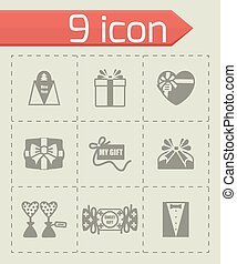 Vector Gift icon set