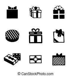 Vector gift icon set