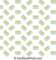 Vector Gift Pattern on white background