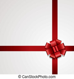 vector gift red ribbon with bow