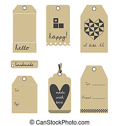 Vector gift tags or labels set