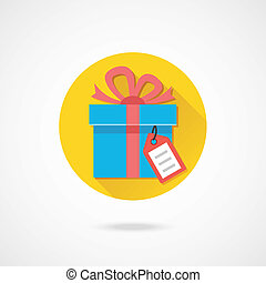 Vector Gift with Tag Icon