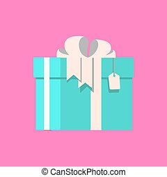 Vector gift with tag