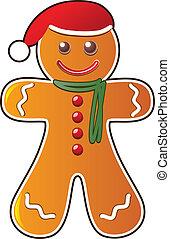 vector gingerbread cookie