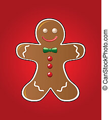 gingerbread cookie - vector gingerbread cookie