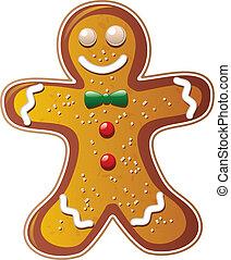 vector gingerbread cookie man