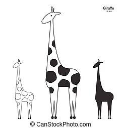 Vector giraffe logo illustration