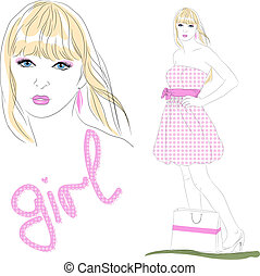 vector girl. fashion