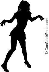 Vector girl silhouette