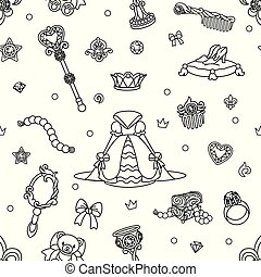 vector girlish seamless pattern