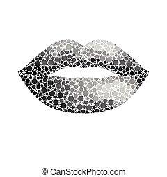 vector glamour sparkle lips