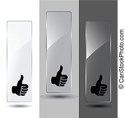 Vector glass banners for advertising text
