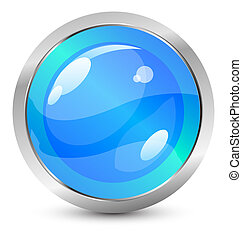 Vector glass buttons - Vector illustration for your design