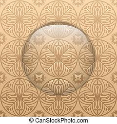 Vector - Glass Circle Button Basque Textures