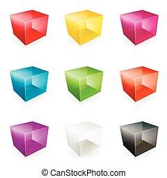 Vector glass cubes