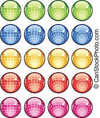 vector glass globes