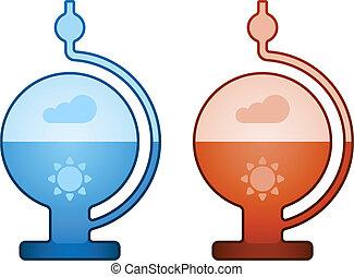 vector glass liquid barometer