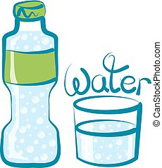 Vector Glass of Water - vector glass of water with...