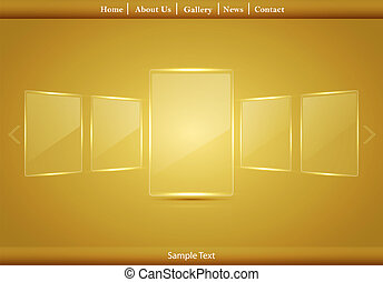 Vector glass picture gallery