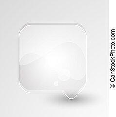 Vector glass speech bubble