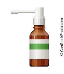 Vector glass spray bottle