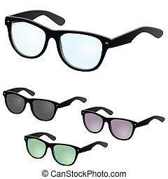 Vector glasses - illustration of a vector set of glasses