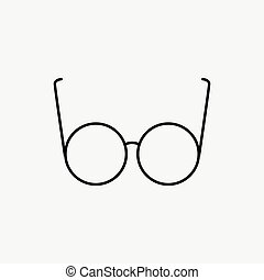 Vector Glasses Icon on white background