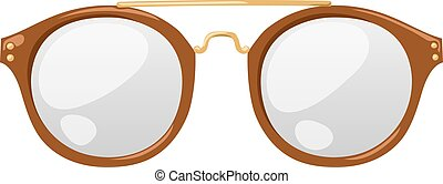 Vector glasses isolated on white