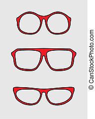 Vector glasses set