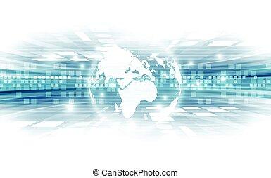 vector, global, fondo digital, concepto, resumen, tecnología