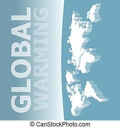 Melting Ice Map Of World
