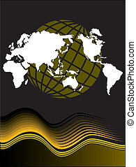 Vector globe and map design - A binary vector globe with a...