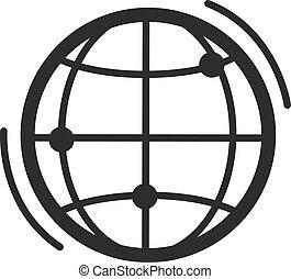 Vector Globe Earth Black Icon
