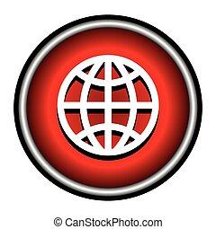 Vector globe icon background