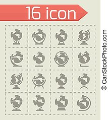 Vector Globe icon set