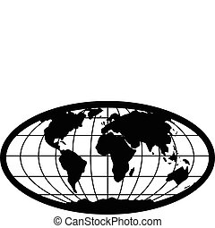 Vector Globe - Illustrated globe of earth, easy to change ...