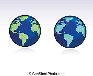 Vector Globe - WORLD MAP