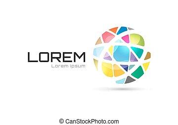 vector, globo, resumen, logotipo, template., círculo,...