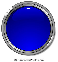 Vector glossy blue button